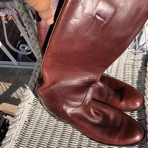 Hand crafted knee high all leather boots
